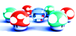super mario mushrooms PSD