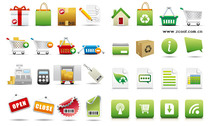 2 Sets Of Fine Shopping Category Icon