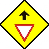 Caution Give Way Sign