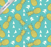 Delicious pineapple seamless background