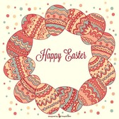 Easter decorative template