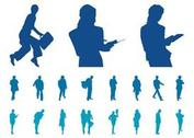 Businesspeople Silhouette Set