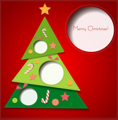 Creative Christmas greeting card vector material stitching