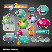 Sales Label vector collection