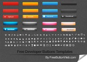 Amazing Web Buttons & Glyph Icons Pack PNG/PSD
