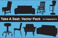 8 Silhouette Furniture Vector Items