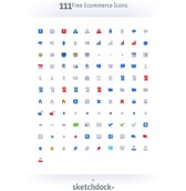 111 Minimalist eCommerce Icons Pack PNG