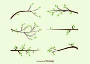 Tree Branches Vector Silhouettes