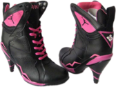 Air-Jordan-7-High-Heels-Black-Pink PSD