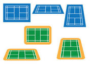 Badminton Court Vector Pack