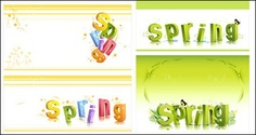 Spring three-dimensional character alphabet pattern