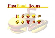 10 McDonald's Style Fast Food Icons Set ICO