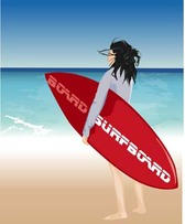 Surfing sport vector 5
