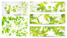 Green Leaves Background Vector Material Green Leaves Fluttering The Maple Leaf