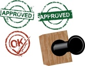 Approved rubber stamps