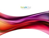 Abstract Colored Waves Background Vector Illustation