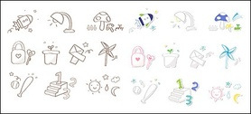 Cute icon series vector material-6