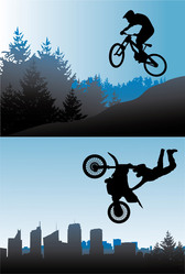 Bicycle And Motorcycle Sports