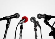Press Conference Microphone Vector Graphics (Free)