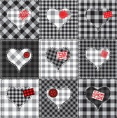 Patchwork Gingham Hearts
