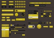 Quality Yellow Web UI Elements Kit PSD