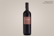 Wine bottle psd