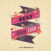 Vintage mother's day ribbon message