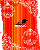 Fashion Christmas Decoration Pattern Vector Graphic Sphere