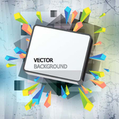 Gorgeous Three-Dimensional Vector Illustration Background Material