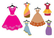Colorful Fancy Dress Vectors