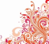 Swirl Floral Design Vector Art