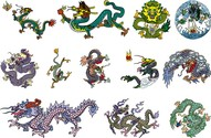 Chinese Classical Dragon Vector Of The Six