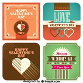 Valentine's Day Classic Cards Design Set