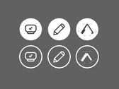 tree webdesign icons / circle