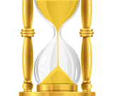 Gold sand glass clock