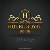 Golden hotel logo free graphics
