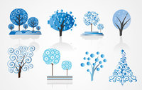 Winter Tree Vector Set (Free)