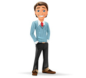 Businessman Free Vector Character