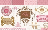 Vintage wedding decorative frames and elements
