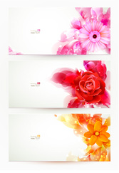 Flower pattern background vector-13