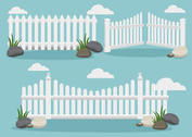 White Picket Fence Vectors