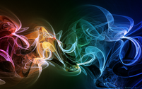 Rainbow Smoke Background PSD
