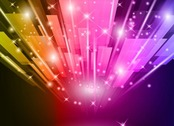 Abstract Vector Illustration Background of Colorful Light
