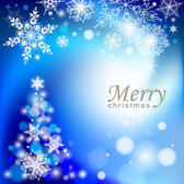 Elegant Blue Abstract Christmas Tree Background