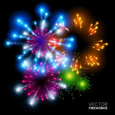 Free vector about fireworks eps