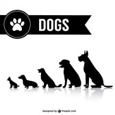 Vector dog shilouettes set