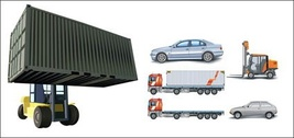 Cars, container trucks, lifting trucks, large cars, forklift