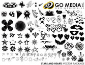 Go Media Vector Chupin material - heart-shaped with the Star