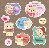 Cute cartoon sticker vector-6