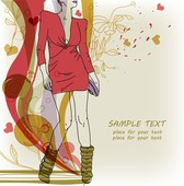 Beautiful Handpainted Fashion Illustrator 05